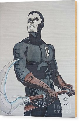 Shadowman II Wood Print by Justin Moore