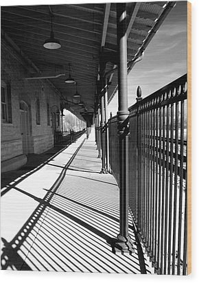 Shadows At The Station Wood Print by Denise Beverly