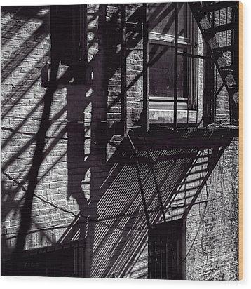 Shadows Wood Print by Bob Orsillo