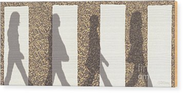 Shadows Of Abbey Road Wood Print by Cristophers Dream Artistry