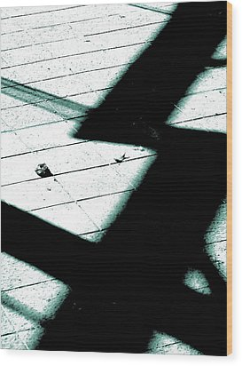 Shadows On The Floor  Wood Print by Steve Taylor
