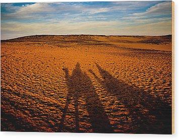 Shadows On The Sahara Wood Print by Mark E Tisdale