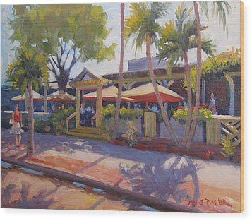 Shadows On Tommy Bahamas Wood Print by Dianne Panarelli Miller
