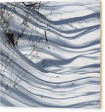 Shadows Reach Wood Print