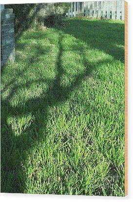 Shadows Reaching Wood Print by Susan Williams
