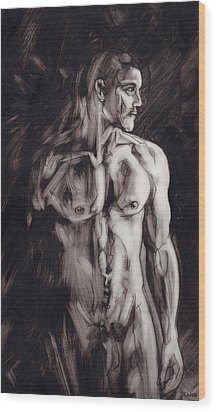 Shadows Wood Print by Rudy Nagel