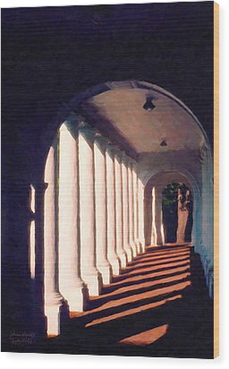 Shadows University Of Virginia Wood Print