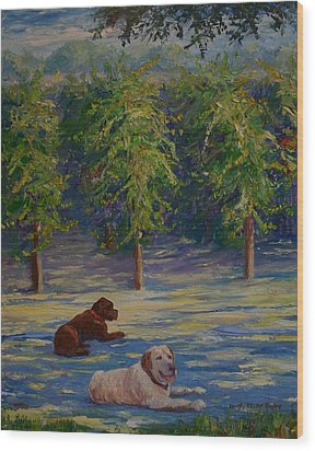Shady Friends Wood Print by Dorothy Allston Rogers