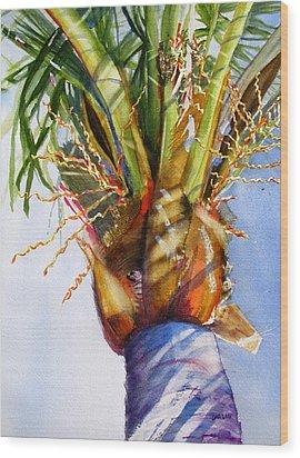 Shady Palm Tree Wood Print by Carlin Blahnik