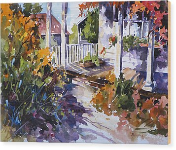 Shady Spot Wood Print by Rae Andrews