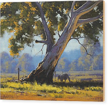 Shady Tree Wood Print