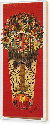 Shaka Zulu Wood Print by Apanaki Temitayo M