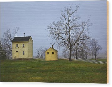 Shakertown Morning Wood Print by Wendell Thompson