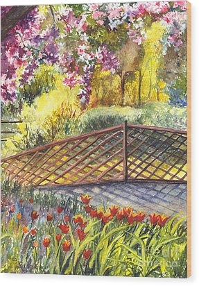 Shakespeare Garden Central Park New York City Wood Print by Carol Wisniewski