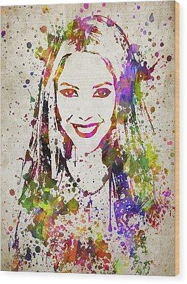 Shakira In Color Wood Print