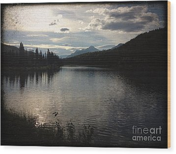 Wood Print featuring the photograph Shallow Lake by J Ferwerda