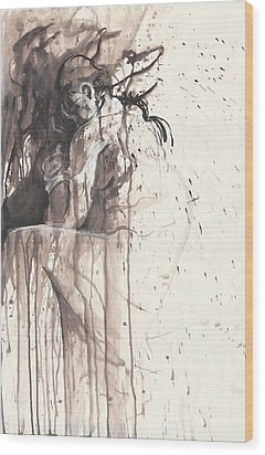Shame Wood Print by Melinda Dare Benfield