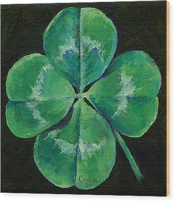 Shamrock Wood Print by Michael Creese