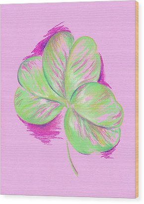 Shamrock Pink Wood Print by MM Anderson