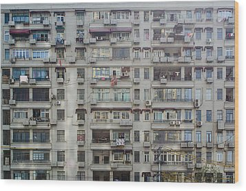 Shanghai Homes Wood Print by Andre Distel