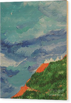 Wood Print featuring the painting Shangri-la by First Star Art