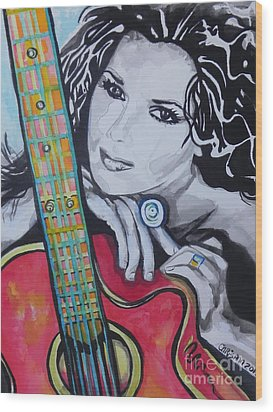 Shania Twain Wood Print by Chrisann Ellis