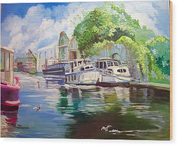 Shannon Harbour Co Offaly Ireland Wood Print by Paul Weerasekera