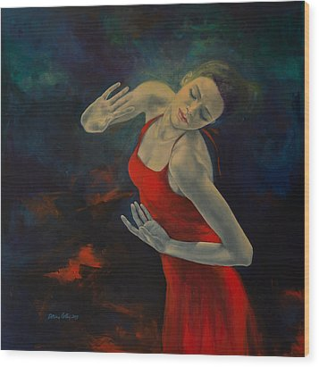 Shape Of My Heart... Wood Print by Dorina  Costras