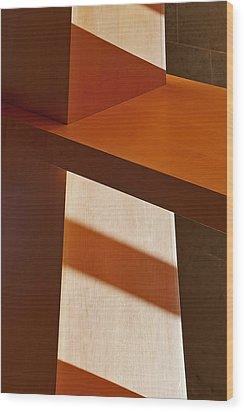 Shapes And Shadows Wood Print by Ernie Echols