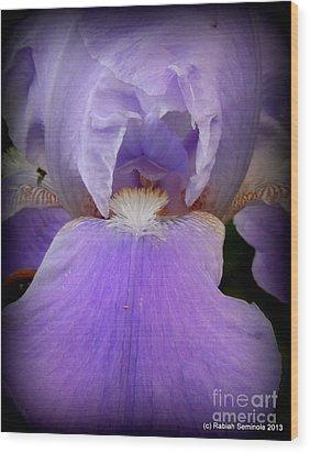Sharing My Iris Wood Print by Rabiah Seminole