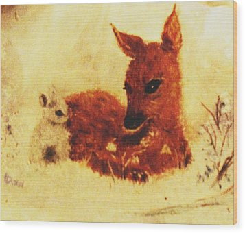 Wood Print featuring the painting Sharing Secrets by Hazel Holland