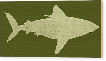 Shark Wood Print by Michelle Calkins