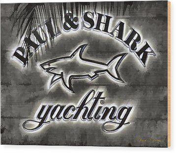 Shark Sign Wood Print