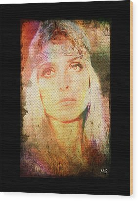 Sharon Tate - Angel Lost Wood Print