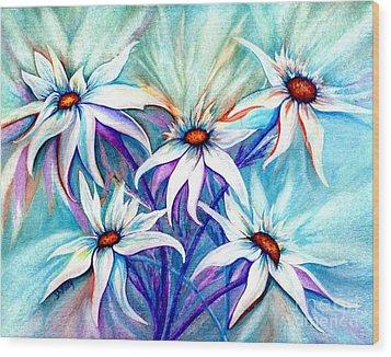 Shasta Daisy Dance Wood Print