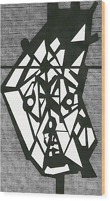 Shatterd Wood Print by David King