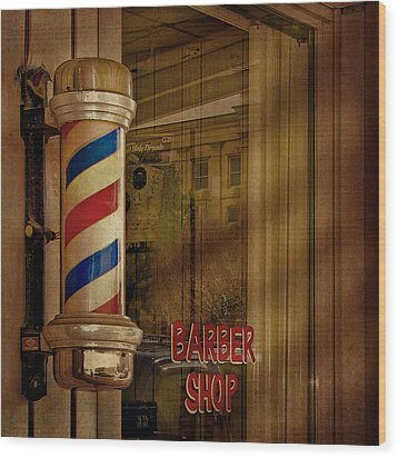 Shave And A Haircut Two Bits  Wood Print by David and Carol Kelly