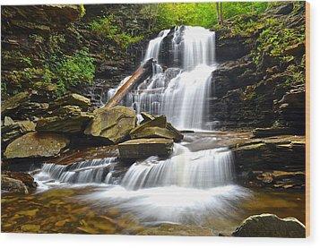 Shawnee Falls Wood Print by Frozen in Time Fine Art Photography