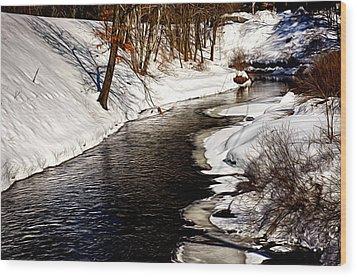 Shawsheen River Wood Print by Tricia Marchlik