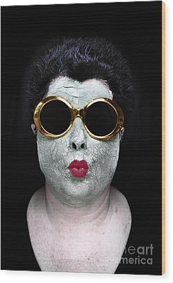 She Couldnt Achieve Her Glam Looks Without A Battery Of Beauty  Wood Print by Amy Cicconi