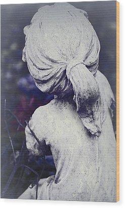 She Dreams Of Angels... Wood Print by The Art Of Marilyn Ridoutt-Greene