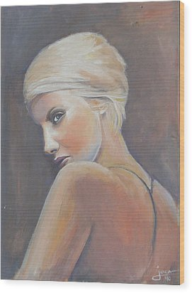 She...... In Colors Wood Print by Jovica Kostic