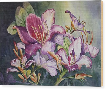 She Love Radiant Orchids Wood Print