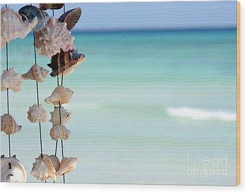 She Sells Seashells Wood Print by Sophie Vigneault