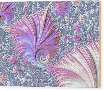 She Shell Wood Print by Susan Maxwell Schmidt