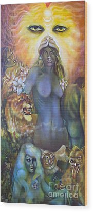 She The Flowering Of Ishtar Wood Print