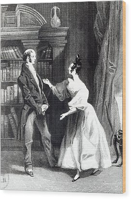 She Then Told Him What Mr Darcy Had Voluntarily Done For Lydia Wood Print by William Greatbach