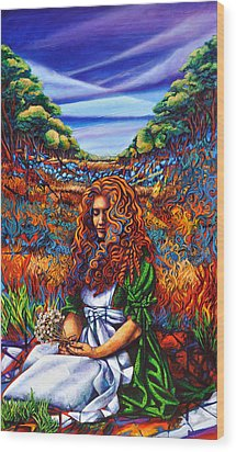 She Was... Wood Print by Greg Skrtic