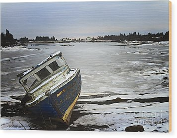 Wood Print featuring the photograph She Will Sail No More by Nancy Dempsey