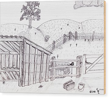 Shed 2 Wood Print by Clark Letellier